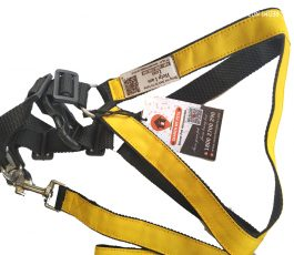 Smart Dog Harness (Yellow Black) with SMP Code