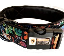 Black Printed Color Smart Dog Collar Belt