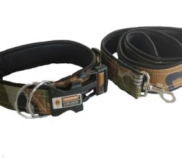 Army Printed Color Smart Dog Collar Belt with Leash