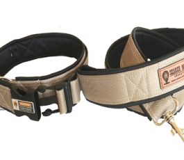 Brown color Smart Dog Collar Belt With Leash
