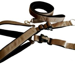 Smart Dog Harness Brown Color With Leash
