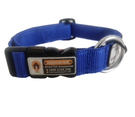 Blue 1 Inch Standard Smart Dog Collar, Anti-lost Dog collar