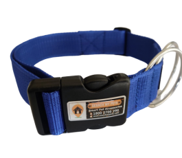 Royal Blue1.5 Inch Standard Smart Dog Collar, Anti-lost Dog collar