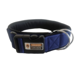 Blue Color 1.5 Inch Padded Smart Dog Collar, Anti-lost Dog collar
