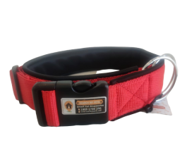 Red Color 1.5 Inch Padded Smart Dog Collar, Anti-lost Dog collar